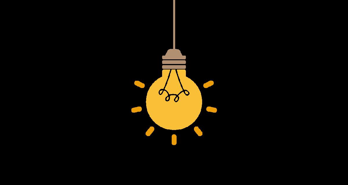 Żarówka oświetlająca usługi kompleksowej obsługi klienta.